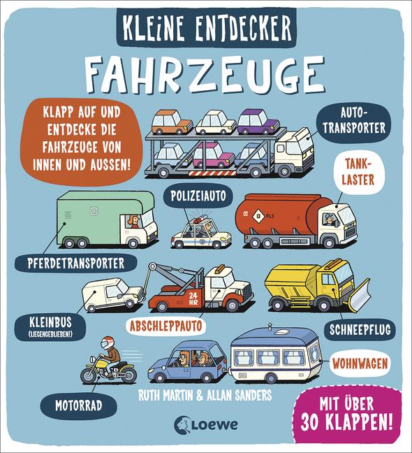 """""""Kleine Entdecker: Fahrzeuge"""" von Ruth Martin und Allan Sanders, Kinderbuch"""