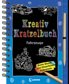 Creative Scratch Book - Vehicles