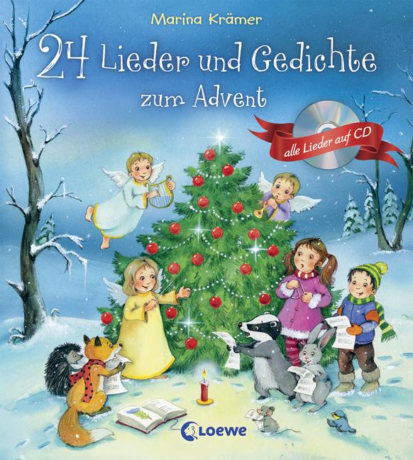 24 Lieder und Gedichte zum Advent: Mit Lieder-CD | 978-3-7855-7803-2 ...